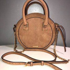 Rebecca Minkoff brown suede leather crossbody bag